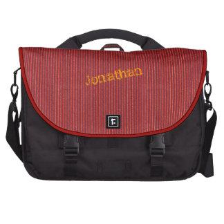Plantilla roja del bolso del ordenador portátil de bolsa para ordenador
