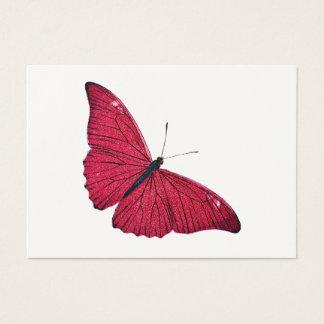 Plantilla roja del ejemplo de la mariposa de los tarjeta de negocios