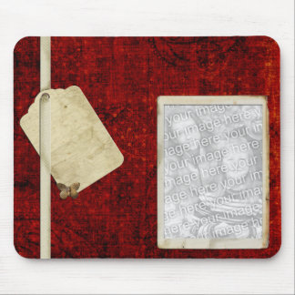 Plantilla roja del mousepad de la foto alfombrilla de ratón