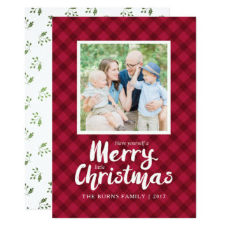 Plantilla roja rústica de la tarjeta de Navidad de