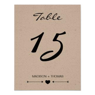 Plantilla romántica rústica de la tarjeta el   invitación 10,8 x 13,9 cm