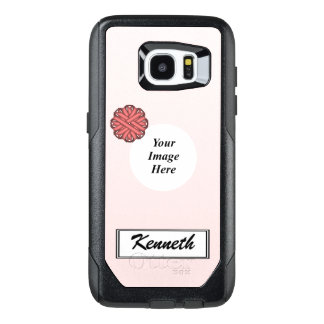 Plantilla rosada de la cinta de la flor de Kenneth Funda OtterBox Para Samsung Galaxy S7 Edge