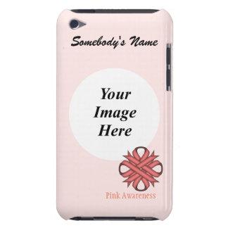 Plantilla rosada de la cinta del trébol iPod touch funda