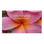 Plantilla rosada de las tarjetas de visita del