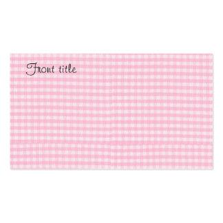 Plantilla rosada del fondo de la tela del tablero tarjetas de visita