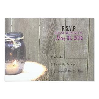 Plantilla rústica de la respuesta del boda del invitación 8,9 x 12,7 cm