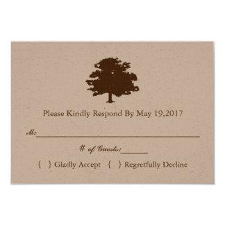 Plantilla rústica de la tarjeta de la respuesta invitación 8,9 x 12,7 cm