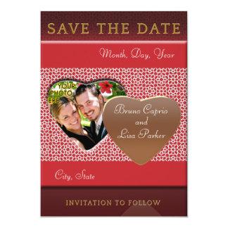 Plantilla SAVE THE DATE mosaicos con arabescos Invitación 12,7 X 17,8 Cm
