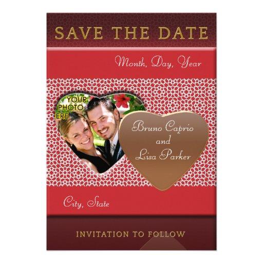 Plantilla SAVE THE DATE mosaicos con arabescos Invitacion Personalizada