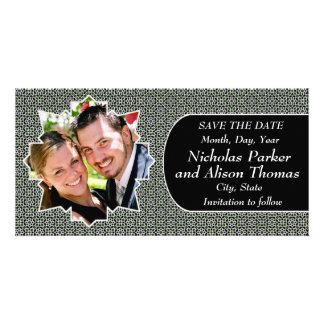 Plantilla SAVE THE DATE mosaicos con arabescos Tarjetas Fotográficas Personalizadas