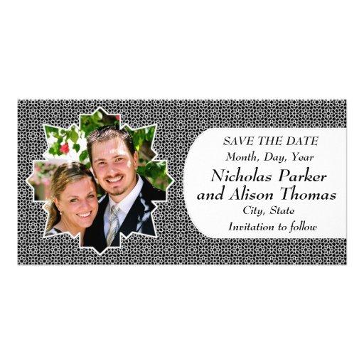 Plantilla SAVE THE DATE mosaicos con arabescos Tarjetas Personales Con Fotos