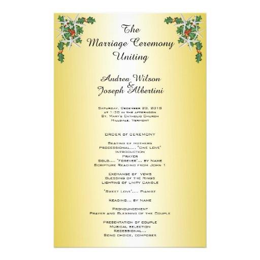 Plantilla tropical de la ceremonia de boda del flyer a todo color