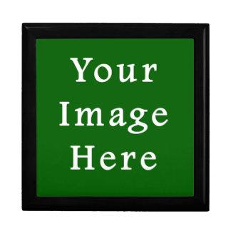 Plantilla verde del espacio en blanco de la tenden caja de recuerdo