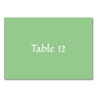 Plantilla verde Tablecard de Apple