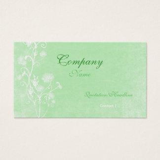 Plantilla verde y blanca elegante de la tarjeta de
