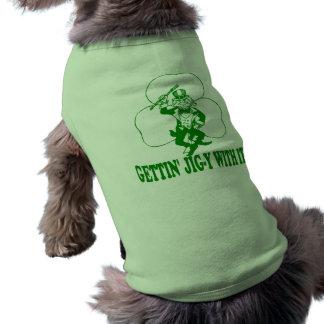 Plantilla-y de Getting con ella Camisa De Perrito