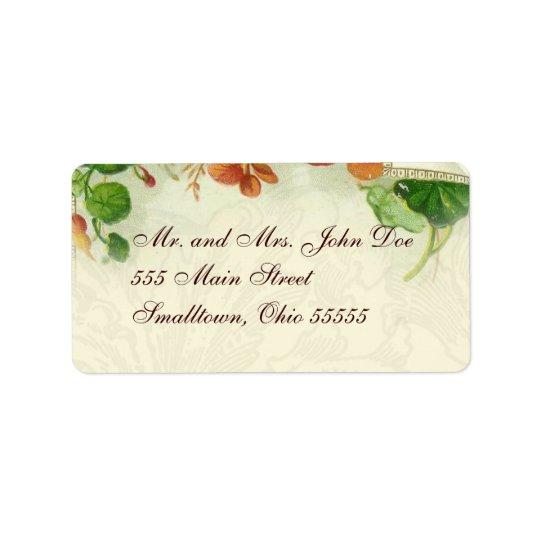 Plantillas de la etiqueta de dirección florales