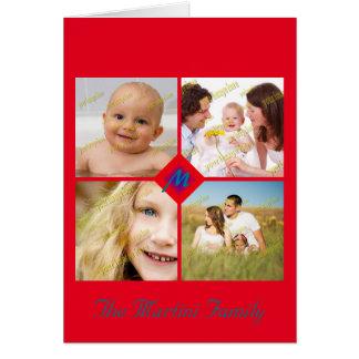 Plantillas de la foto de la colección del collage tarjeta de felicitación