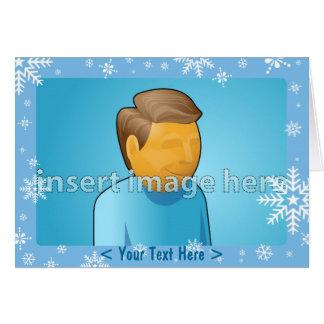 Plantillas del copo de nieve tarjeta de felicitación