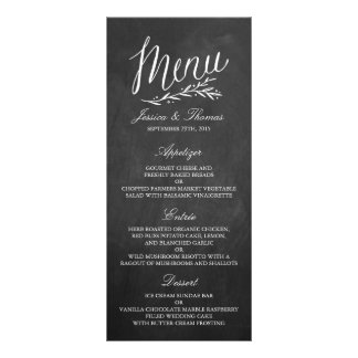Plantillas elegantes del menú del boda de la