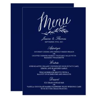 Plantillas elegantes del menú del boda de los