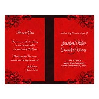 Plantillas góticas florales rojo oscuro del folleto 21,6 x 28 cm