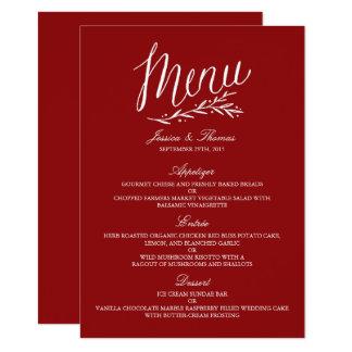 Plantillas rojas y blancas elegantes del menú del
