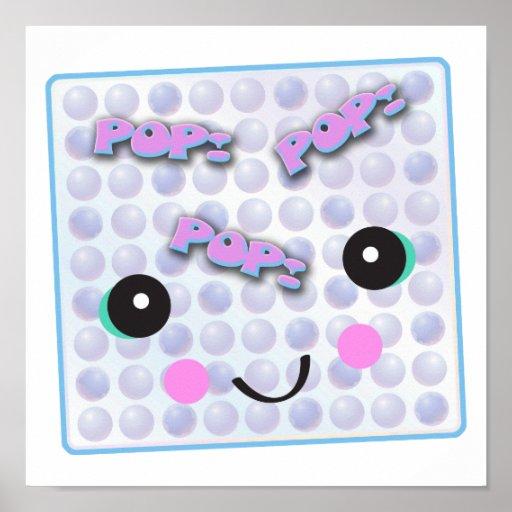 Plástico de burbujas lindo de Kawaii Impresiones