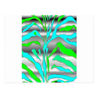 Plata abstracta del verde azul del estampado de postal