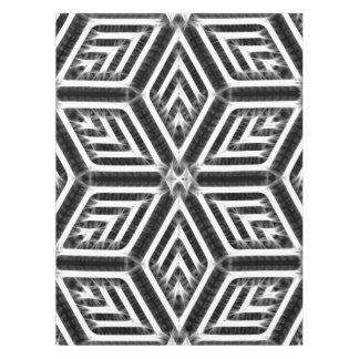 Plata, blanco, modelo geométrico del Rhombus negro Mantel