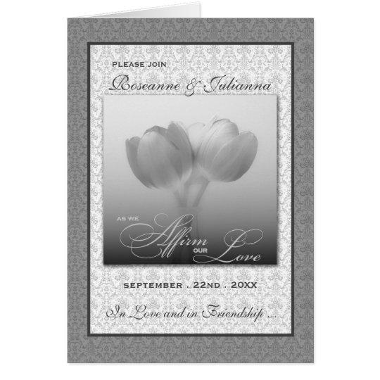 Plata civil del boda del homosexual y lesbiana de tarjeta de felicitación