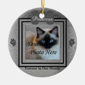 Plata de encargo conmemorativa del perro o del adorno navideño redondo de cerámica