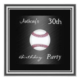 Plata de la fiesta de cumpleaños del béisbol de la invitación 13,3 cm x 13,3cm
