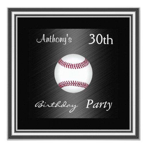 Plata de la fiesta de cumpleaños del béisbol de la comunicados personalizados