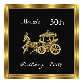 Plata de la fiesta de cumpleaños del carro de la invitación 13,3 cm x 13,3cm