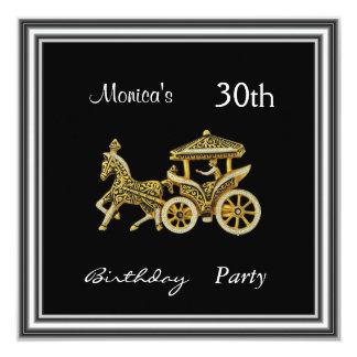 Plata de la fiesta de cumpleaños del carro de la invitaciones personales