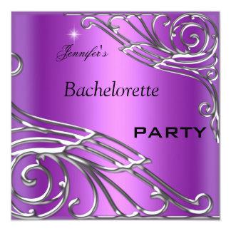 Plata de la púrpura del negro del fiesta de comunicados