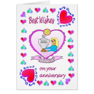 Plata de la tarjeta 25 del aniversario