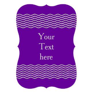 Plata de las ondas del bonito + su backgr., texto invitación 12,7 x 17,8 cm