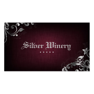 Plata de lino del vino de la tarjeta de visita del