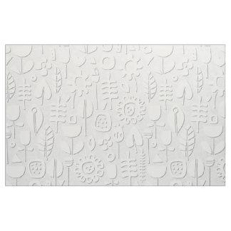 plata de papel del blanco de las flores de corte tela