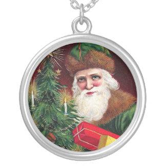 Plata del colgante de Papá Noel de la joyería del