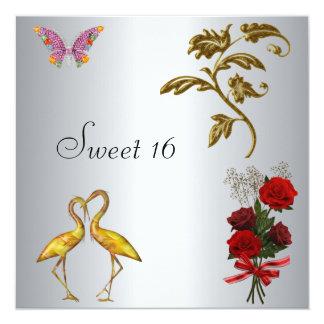 Plata del dulce 16 de la invitación