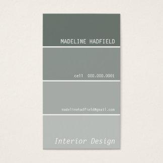 Plata del gris de la muestra del microprocesador tarjeta de negocios
