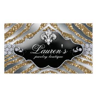Plata del oro de la chispa de la flor de lis de la tarjetas de visita