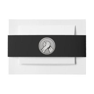 Plata del pulso cintas para invitaciones