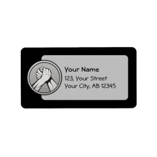 Plata del pulso etiquetas de dirección