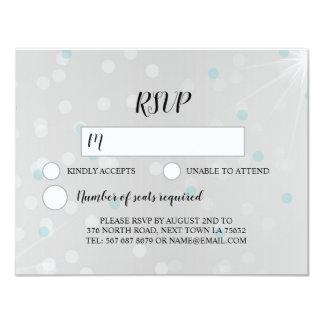 Plata elegante gris de la chispa de la invitación