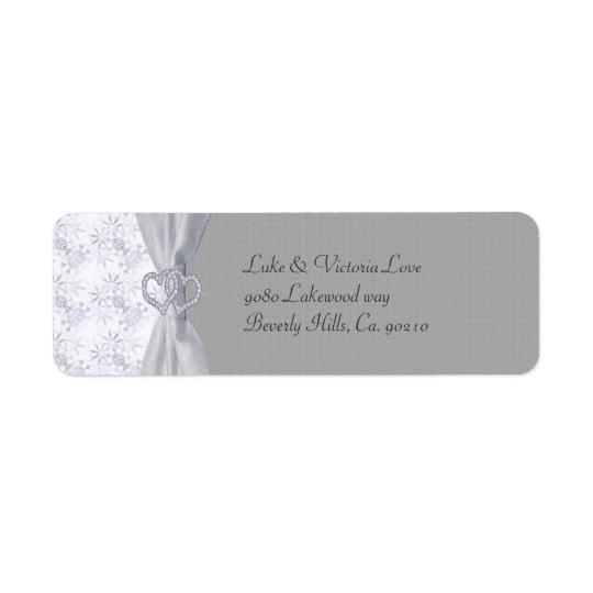 Plata, estrellas del blanco y el casarse de los etiqueta de remitente