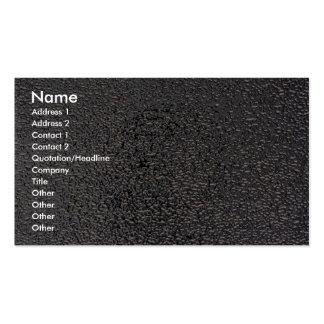 Plata grabada en relieve tarjeta de visita